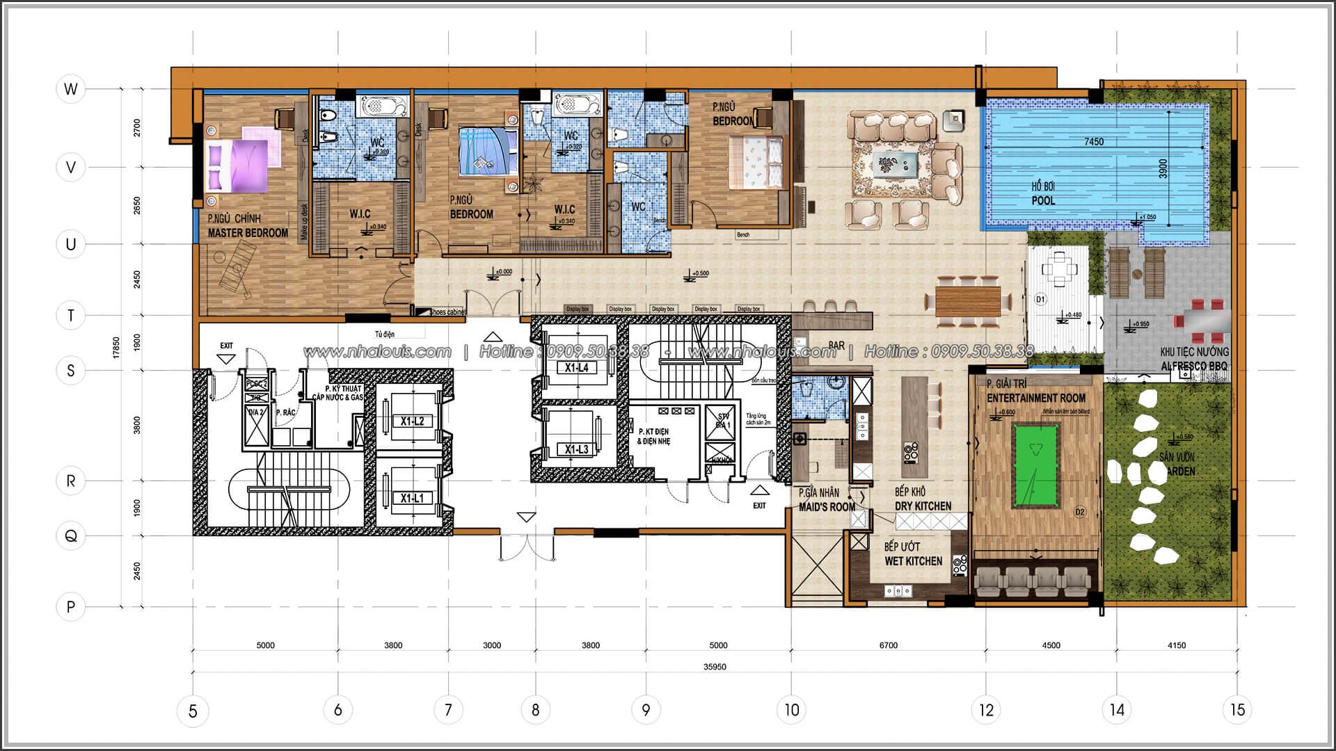 Mặt bằng tổng thể Thiết kế nội thất chung cư hiện đại tại dự án căn hộ cao cấp Sunrise City - 01