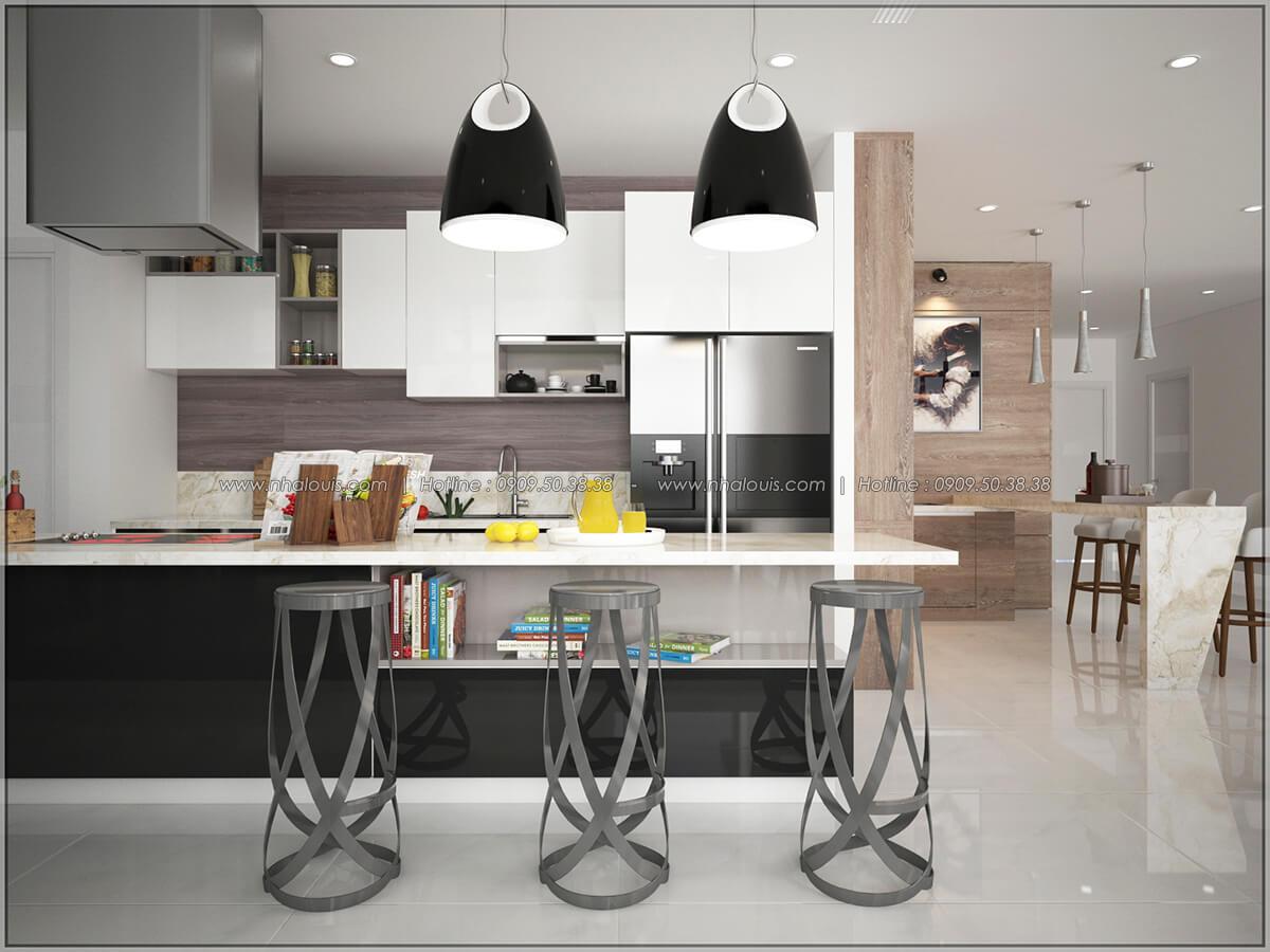 Phòng ăn và bếp Thiết kế nội thất chung cư hiện đại tại dự án căn hộ cao cấp Sunrise City - 03