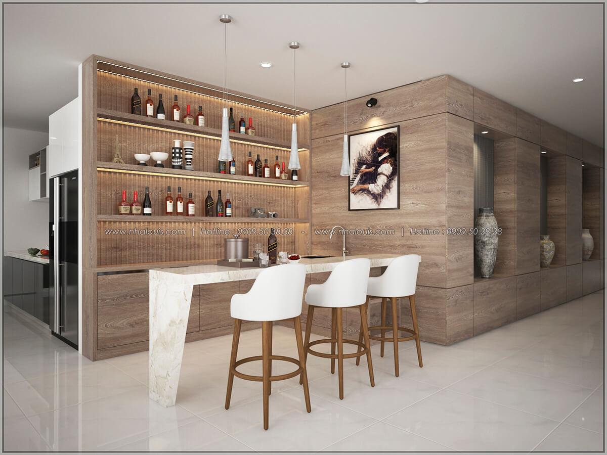 Quầy bar Thiết kế nội thất chung cư hiện đại tại dự án căn hộ cao cấp Sunrise City - 04