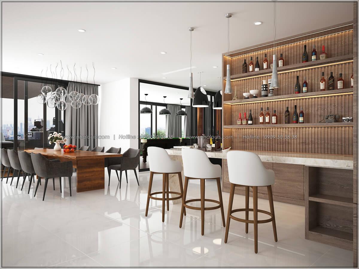 Quầy bar Thiết kế nội thất chung cư hiện đại tại dự án căn hộ cao cấp Sunrise City - 06