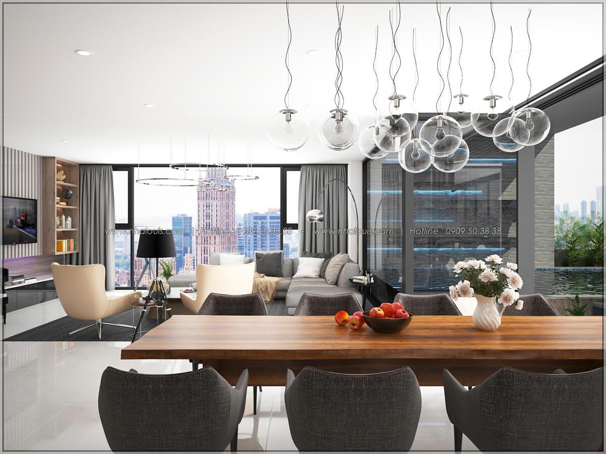 Quầy bar Thiết kế nội thất chung cư hiện đại tại dự án căn hộ cao cấp Sunrise City - 07