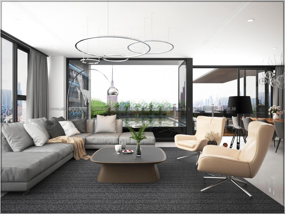 Phòng khách Thiết kế nội thất chung cư hiện đại tại dự án căn hộ cao cấp Sunrise City - 09