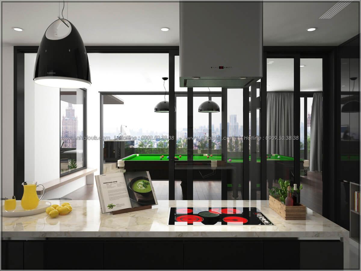 Phòng bếp Thiết kế nội thất chung cư hiện đại tại dự án căn hộ cao cấp Sunrise City - 12