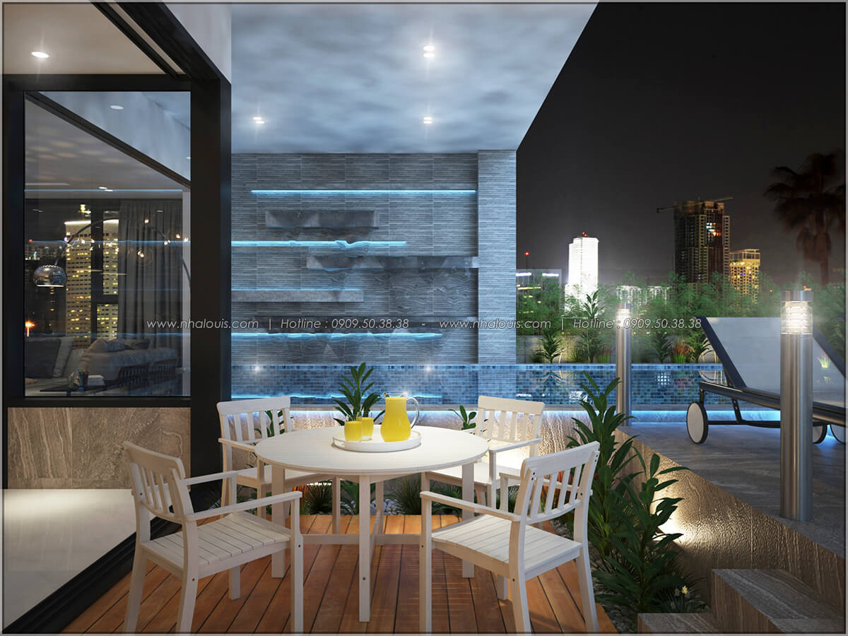 Hồ bơi Thiết kế nội thất chung cư hiện đại tại dự án căn hộ cao cấp Sunrise City - 13