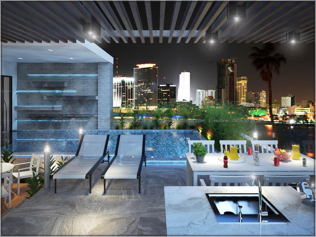 Hồ bơi Thiết kế nội thất chung cư hiện đại tại dự án căn hộ cao cấp Sunrise City - 15