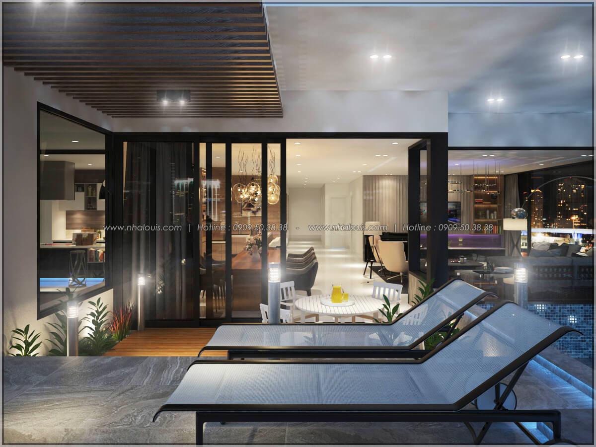 Hồ bơi Thiết kế nội thất chung cư hiện đại tại dự án căn hộ cao cấp Sunrise City - 17