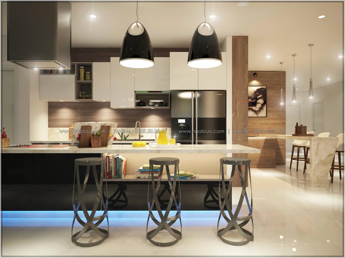 Bếp và phòng ăn Thiết kế nội thất chung cư hiện đại tại dự án căn hộ cao cấp Sunrise City - 21