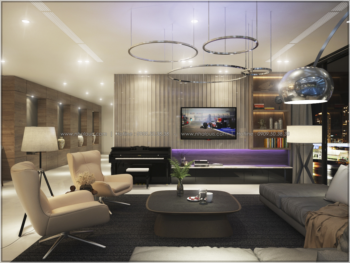 Thiết kế nội thất chung cư hiện đại tại dự án căn hộ cao cấp Sunrise City - 22
