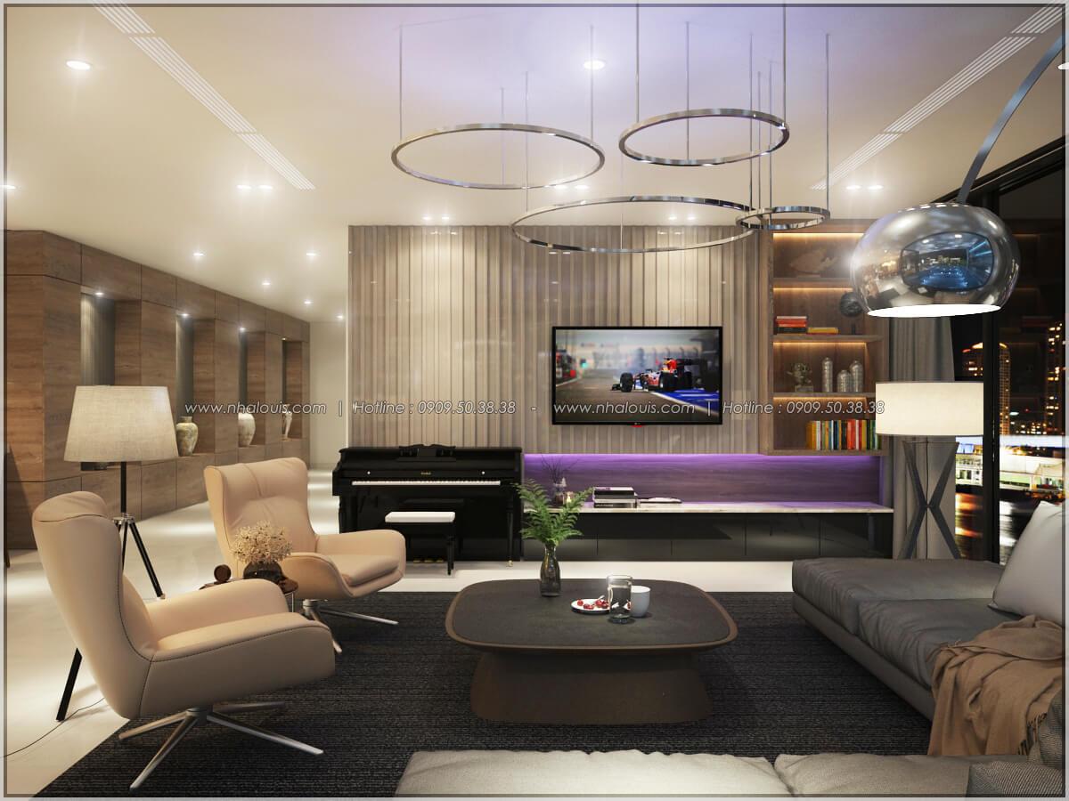 Phòng khách Thiết kế nội thất chung cư hiện đại tại dự án căn hộ cao cấp Sunrise City - 22
