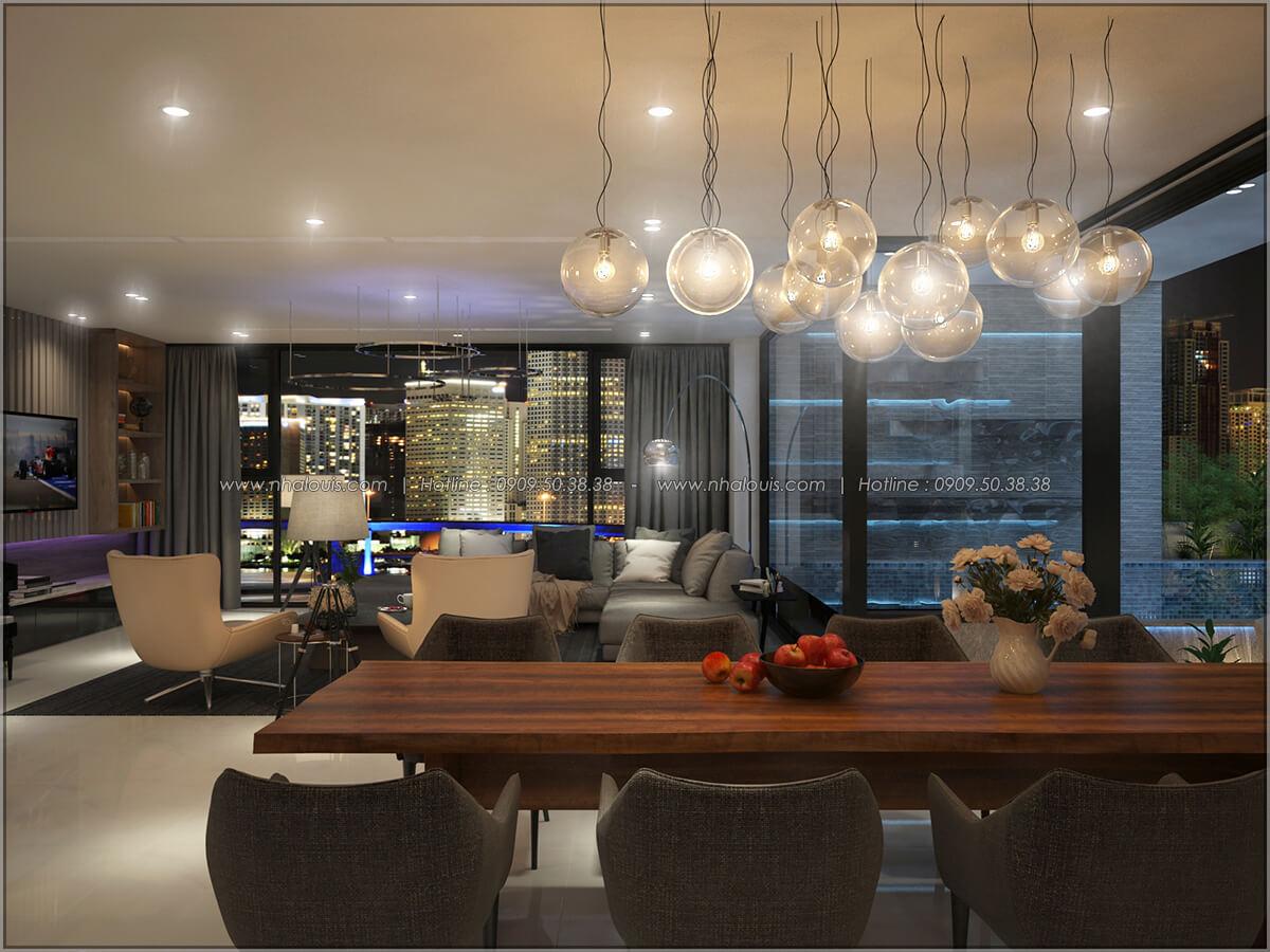 Quầy bar Thiết kế nội thất chung cư hiện đại tại dự án căn hộ cao cấp Sunrise City - 24