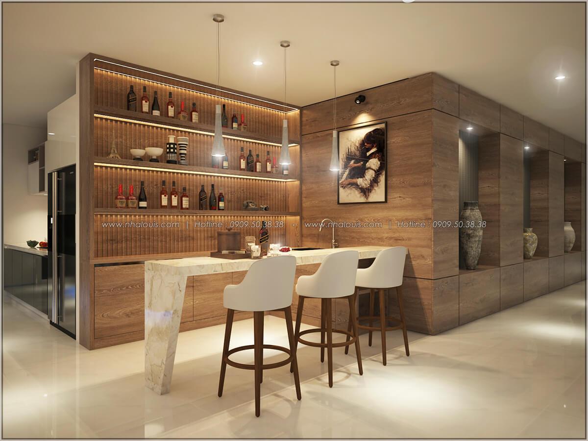Quầy bar Thiết kế nội thất chung cư hiện đại tại dự án căn hộ cao cấp Sunrise City - 25
