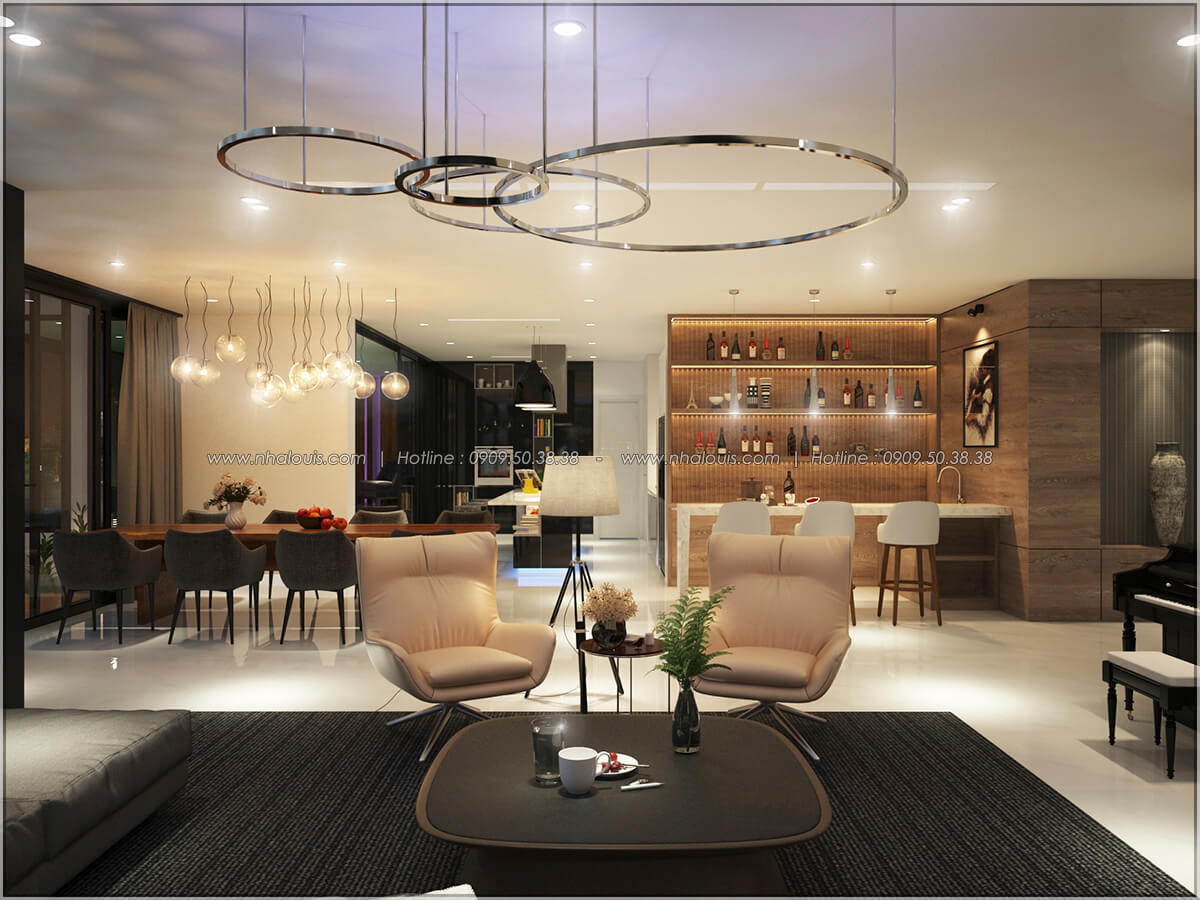 Phòng khách Thiết kế nội thất chung cư hiện đại tại dự án căn hộ cao cấp Sunrise City - 26