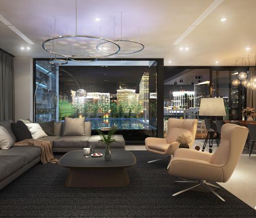 Thiết kế nội thất chung cư hiện đại tại dự án căn hộ cao cấp Sunrise City