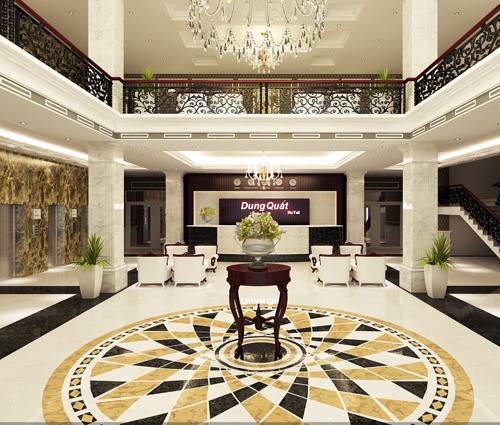 Thiết kế nội thất khách sạn Dung Quốc: Hào hoa và tinh tế chuẩn 5 sao