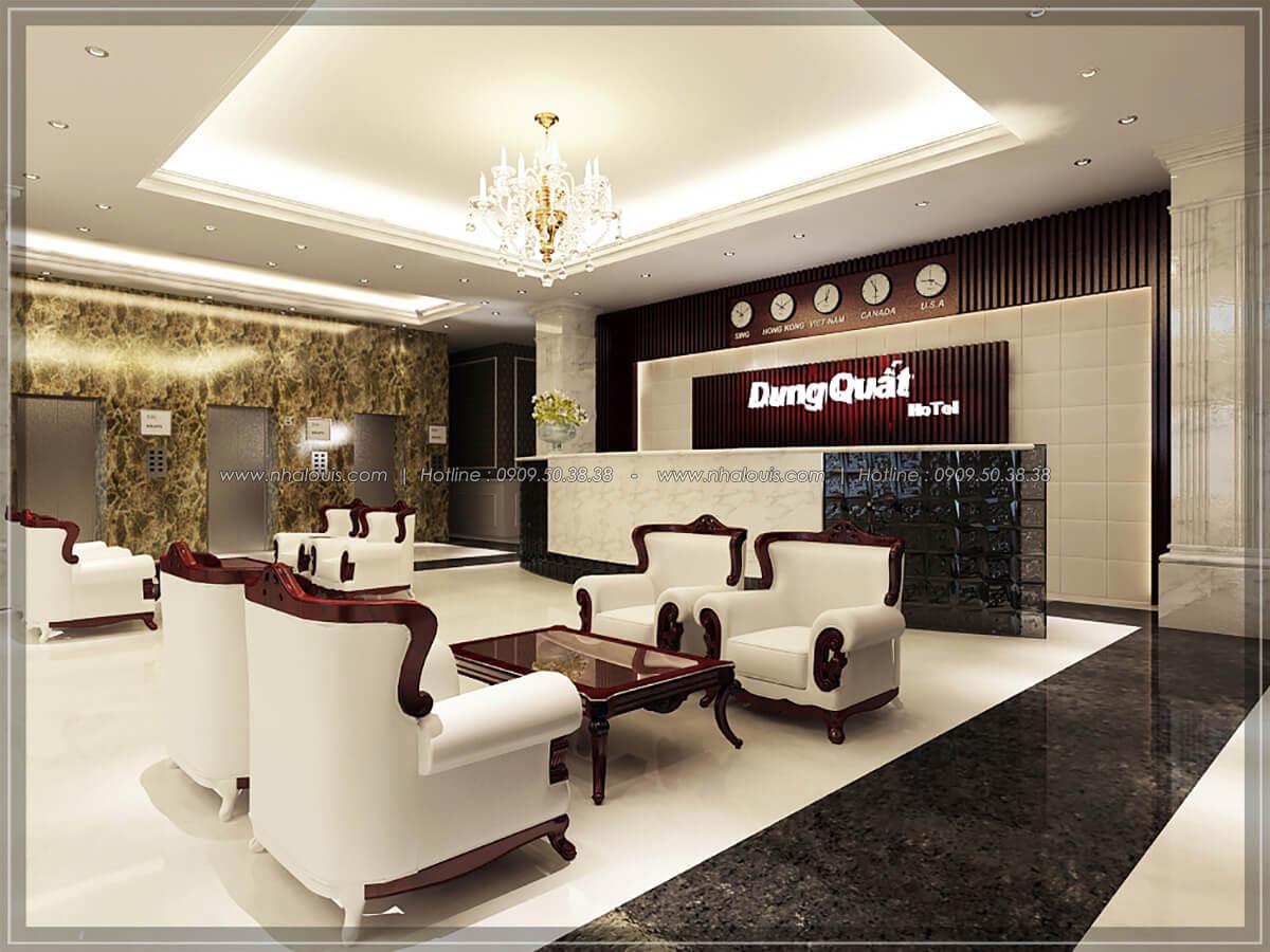 Sảnh tiếp khách Thiết kế nội thất khách sạn 5 sao đẳng cấp tại Phú Quốc - 4