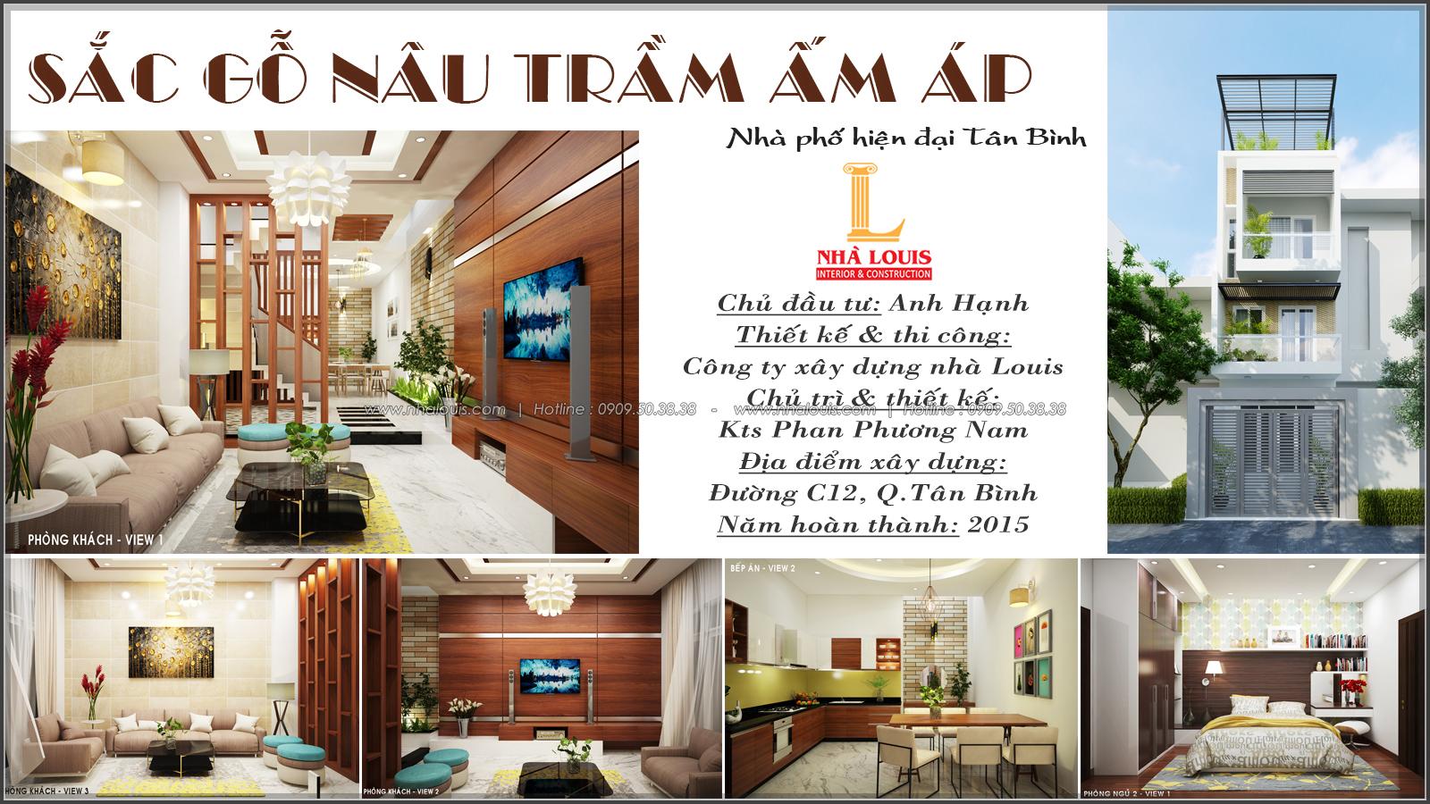 Thiết kế nhà phố mặt tiền 4m Quận Tân Bình sang trọng với nội thất gỗ - 01