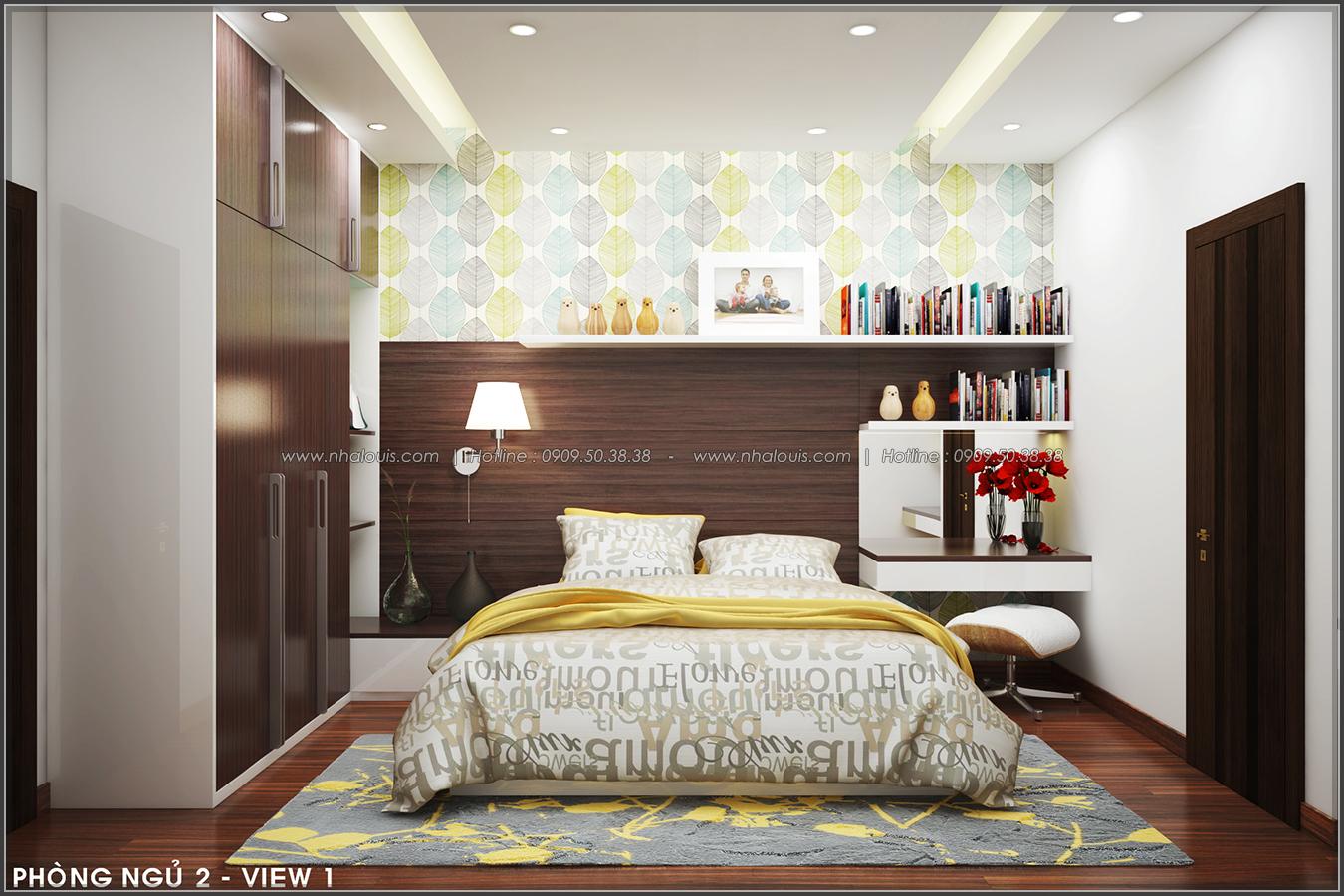 Thiết kế nội thất nhà ống đẹp tone gỗ ấm áp và sang trọng quận Tân Bình - 10