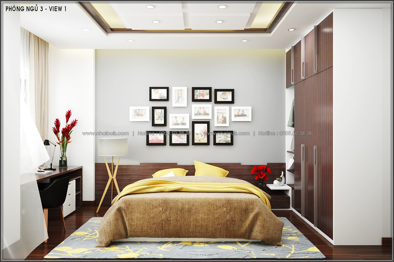 Thiết kế nội thất nhà ống đẹp tone gỗ ấm áp và sang trọng quận Tân Bình - 12
