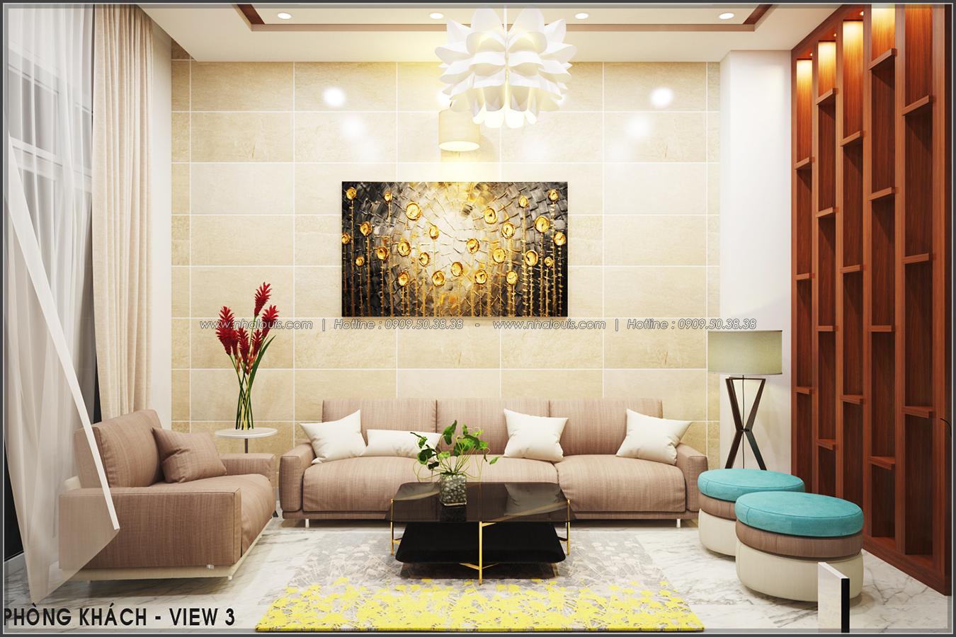 Thiết kế nội thất nhà ống đẹp tone gỗ ấm áp và sang trọng quận Tân Bình - 4