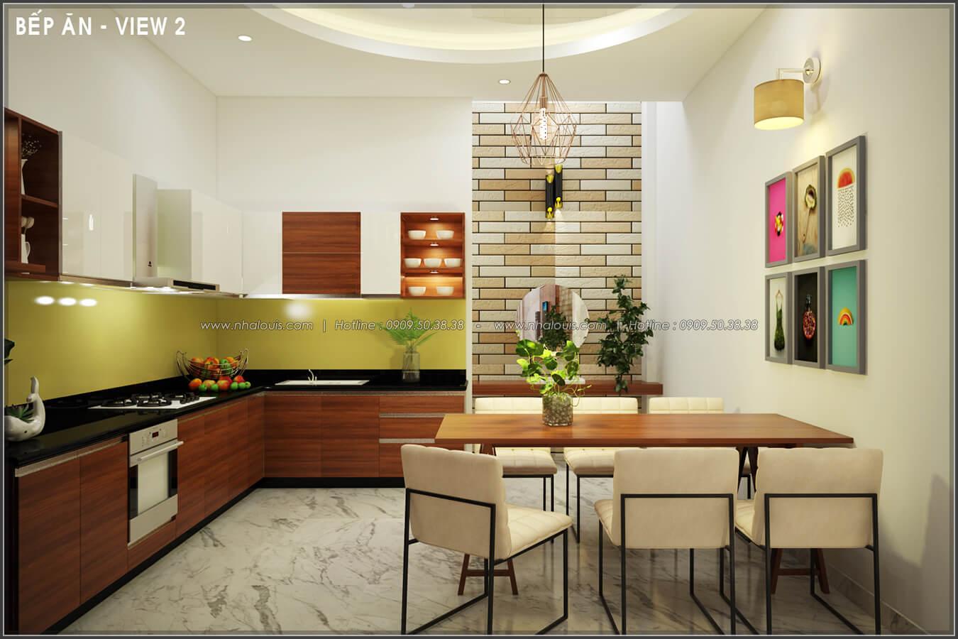 Phòng bếp Thiết kế nội thất nhà phố đẹp tone gỗ ấm áp và sang trọng quận Tân Bình - 6