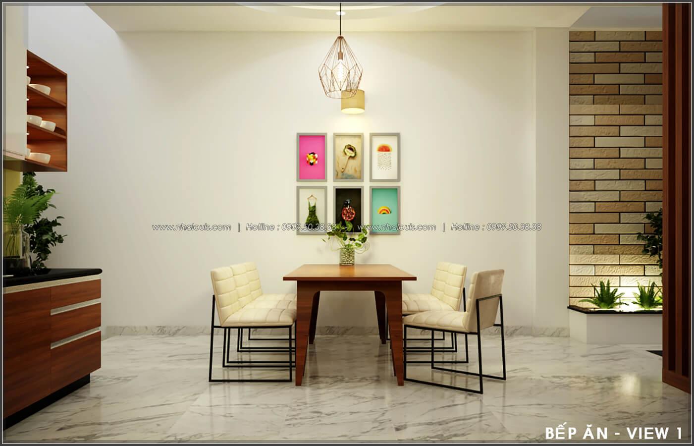 Phòng bếp Thiết kế nội thất nhà phố đẹp tone gỗ ấm áp và sang trọng quận Tân Bình - 7