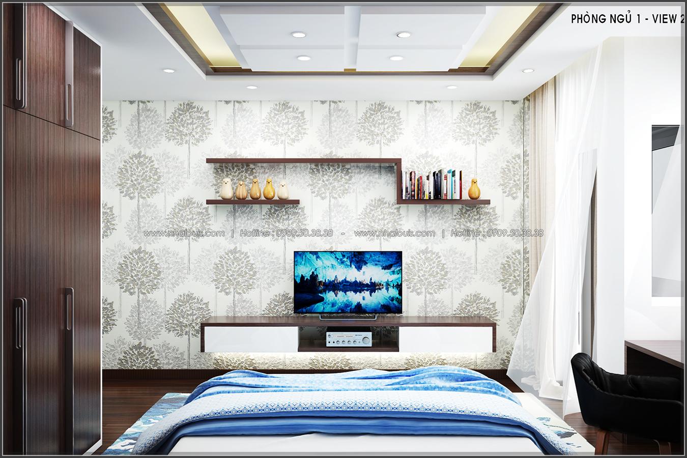 Thiết kế nội thất nhà ống đẹp tone gỗ ấm áp và sang trọng quận Tân Bình - 9