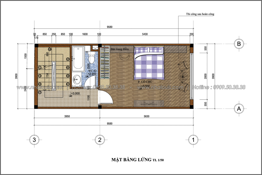 Thiết kế nhà phố đẹp 5 tầng hiện đại sang trọng tại quận 10 - 03