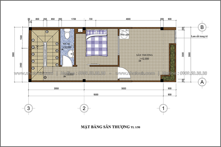Thiết kế nhà phố đẹp 5 tầng hiện đại sang trọng tại quận 10 - 06