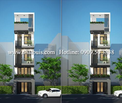 Thiết kế nhà diện tích nhỏ 5 tầng hiện đại sang trọng tại quận 10