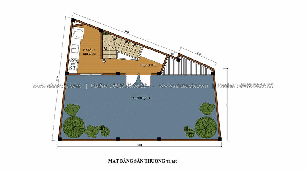 Mặt bằng sân thượng trong thiết kế nội thất tân cổ điển - 6
