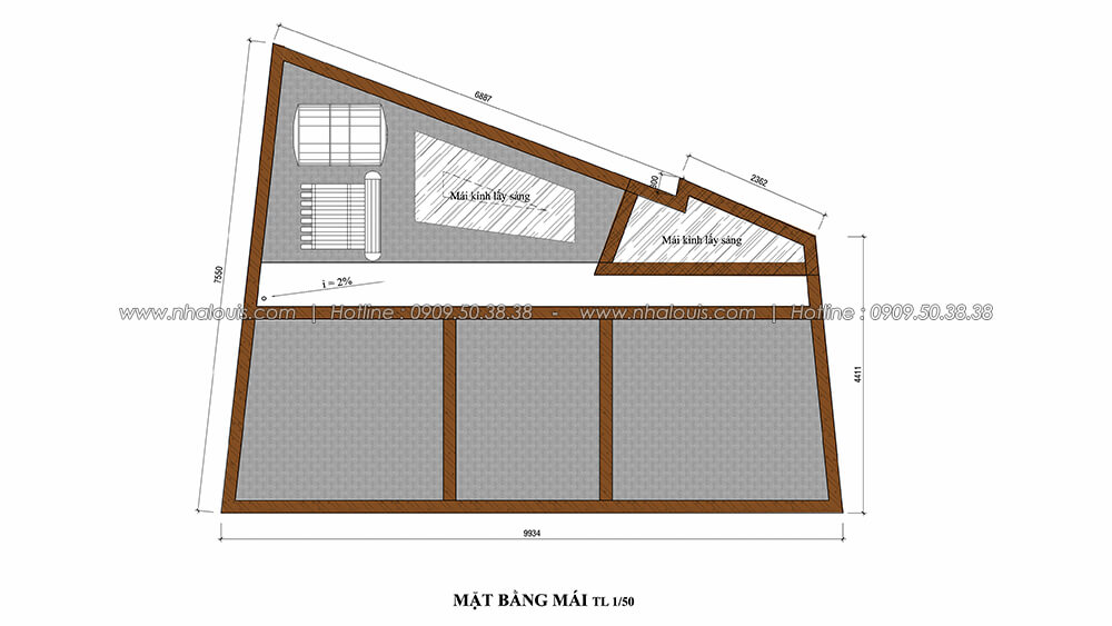 Mặt bằng mái trong thiết kế nội thất tân cổ điển - 7