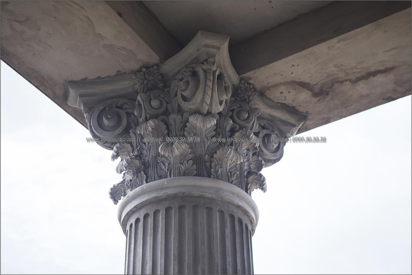 Thiết kế thi công biệt thự cổ điển hoành tráng tại Củ Chi
