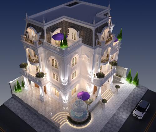 Tinh hoa của đẳng cấp từ thiết kế biệt thự 3 tầng cổ điển tại Bình Tân