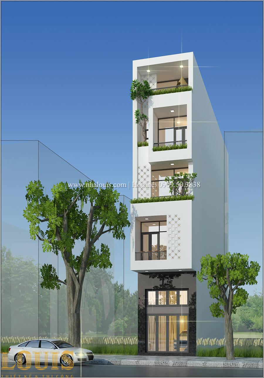 Tư vấn thiết kế mẫu nhà đẹp 4x20m hiện đại và sang trọng tại quận 8 - 09