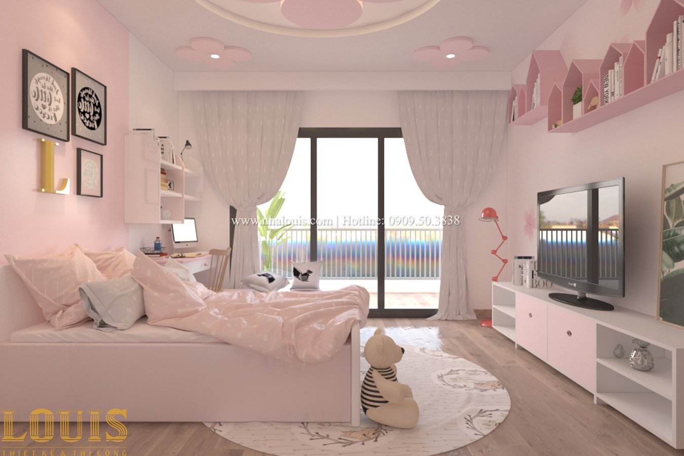 Phòng ngủ Tư vấn thiết kế mẫu nhà đẹp 4x20m hiện đại và sang trọng tại quận 8 - 29