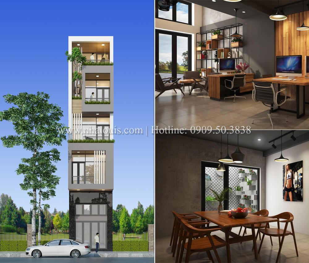 Tư vấn thiết kế mẫu nhà đẹp 4x20m hiện đại và sang trọng tại quận 8