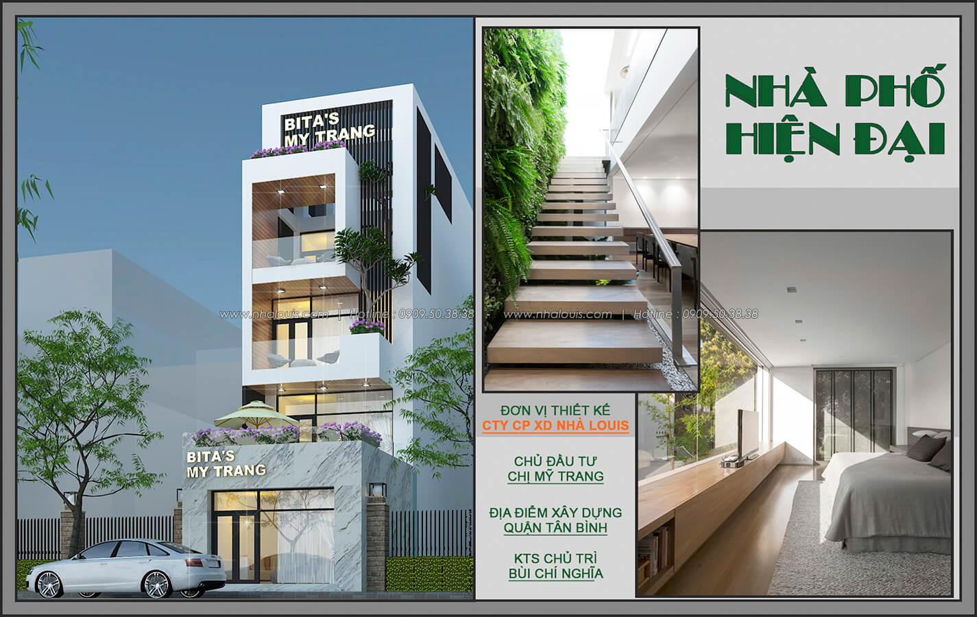 Nhà phố mặt tiền 5m trẻ trung kết hợp kinh doanh tại Tân Bình