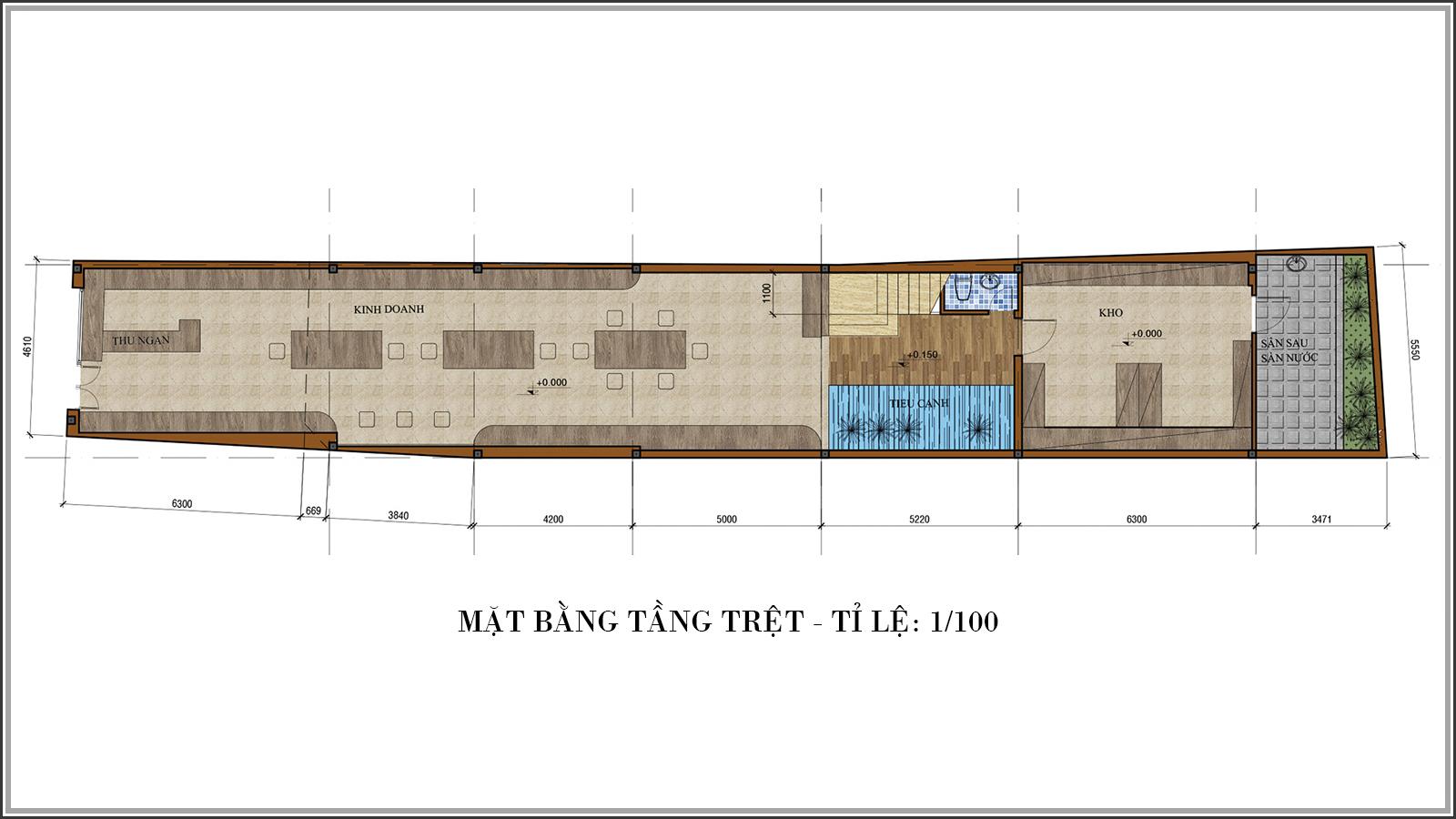 Tư vấn thiết kế nhà phố mặt tiền 5m kết hợp kinh doanh tại Tân Bình - 03