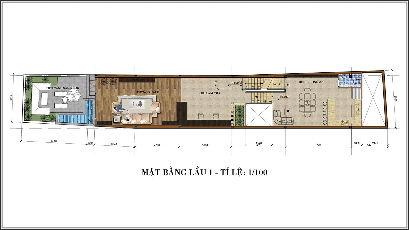Tư vấn thiết kế nhà phố mặt tiền 5m kết hợp kinh doanh tại Tân Bình - 04