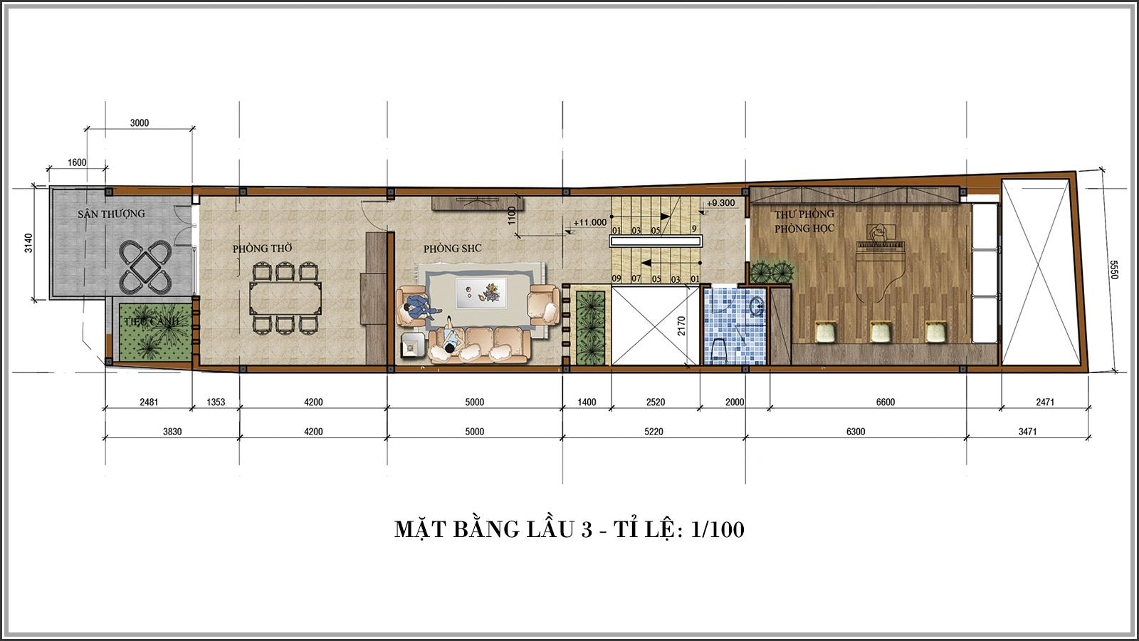 Tư vấn thiết kế nhà phố mặt tiền 5m kết hợp kinh doanh tại Tân Bình - 06