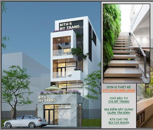 Tư vấn thiết kế nhà phố mặt tiền 5m kết hợp kinh doanh tại Tân Bình
