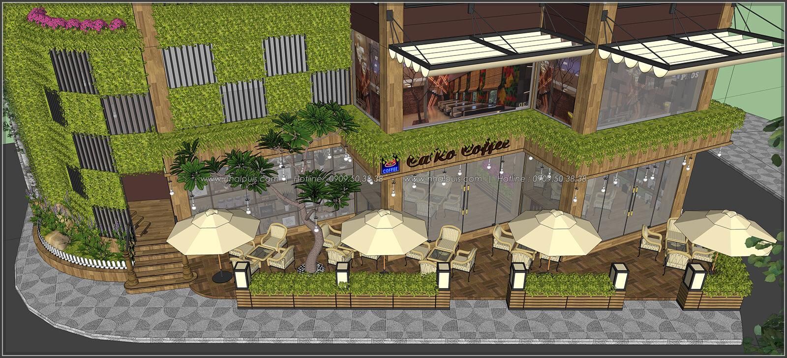 Mặt tiền thiết kế quán cafe đẹp không gian xanh sang trọng ở Bình Dương - 4