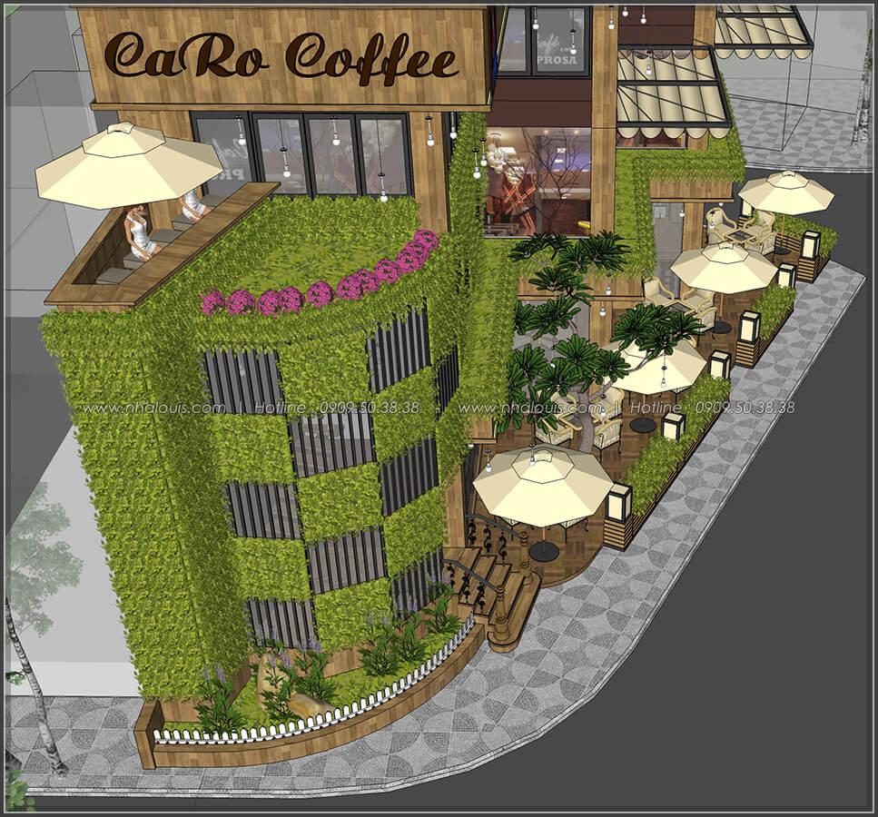 Mặt tiền thiết kế quán cafe đẹp không gian xanh sang trọng ở Bình Dương - 5
