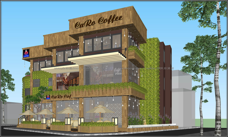 Mặt tiền thiết kế quán cafe đẹp không gian xanh sang trọng ở Bình Dương - 6