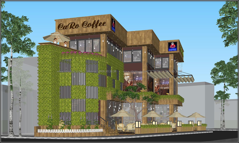 Tư vấn thiết kế quán cafe không gian xanh sang trọng ở Bình Dương - 7