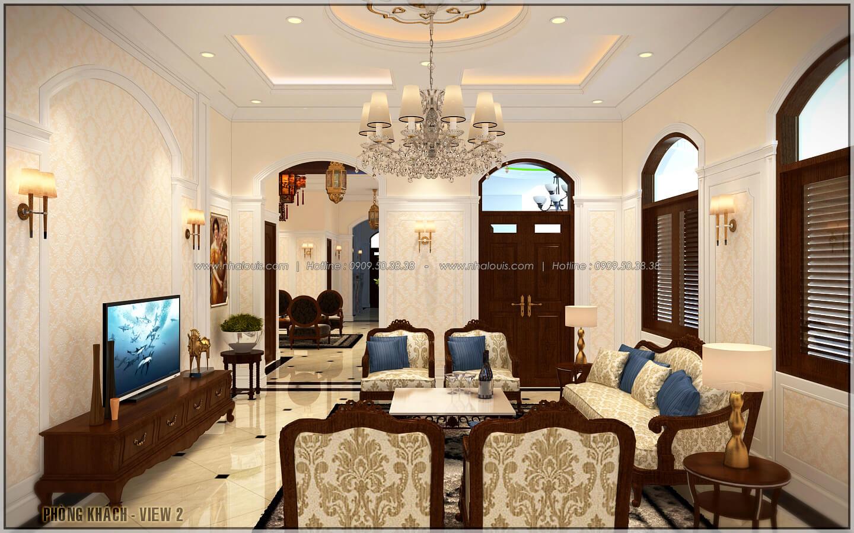 Phòng khách ngôi biệt thự 1 tầng 3 phòng ngủ tại xứ dừa Bến Tre - 10