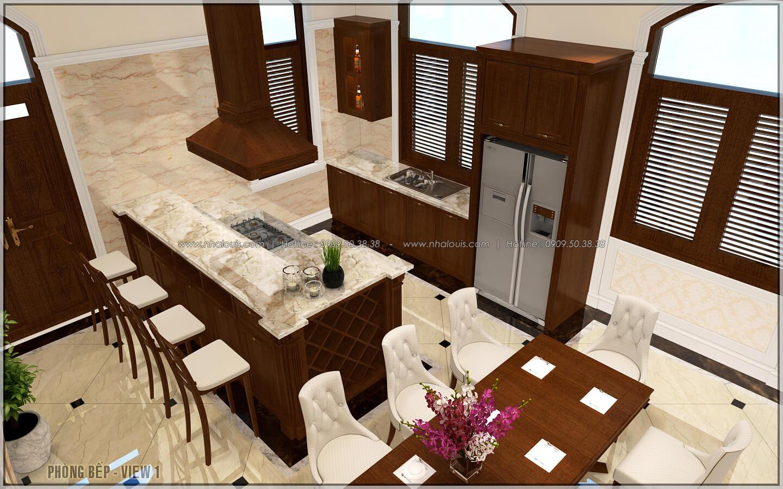 Bếp và phòng ăn ngôi biệt thự 1 tầng 3 phòng ngủ tại xứ dừa Bến Tre - 15