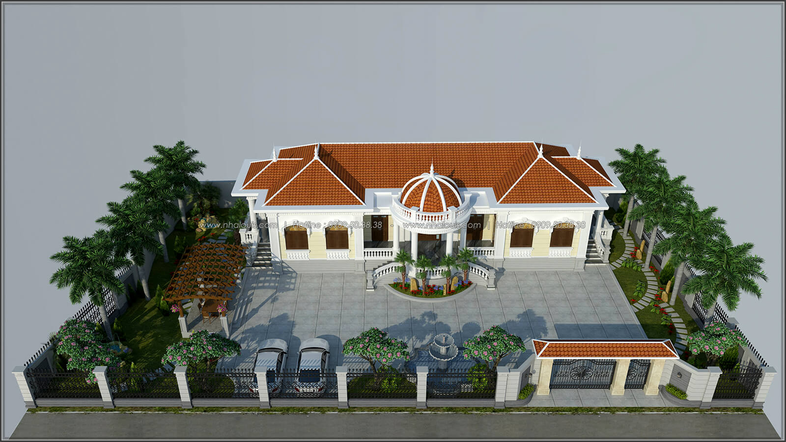Mặt tiền Vẻ đẹp giản đơn của ngôi biệt thự 1 tầng 3 phòng ngủ tại xứ dừa Bến Tre - 1