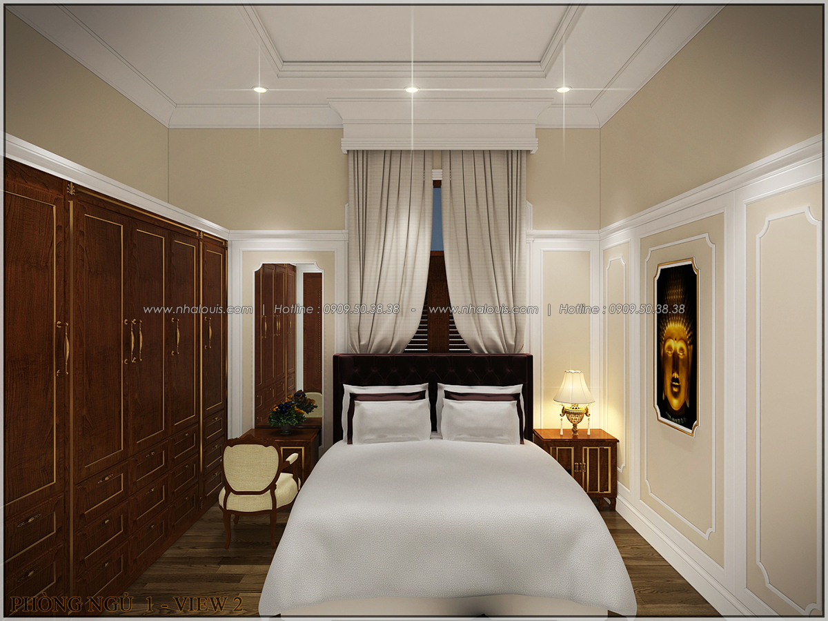 Vẻ đẹp giản đơn của ngôi biệt thự 1 tầng 3 phòng ngủ tại xứ dừa Bến Tre - 23