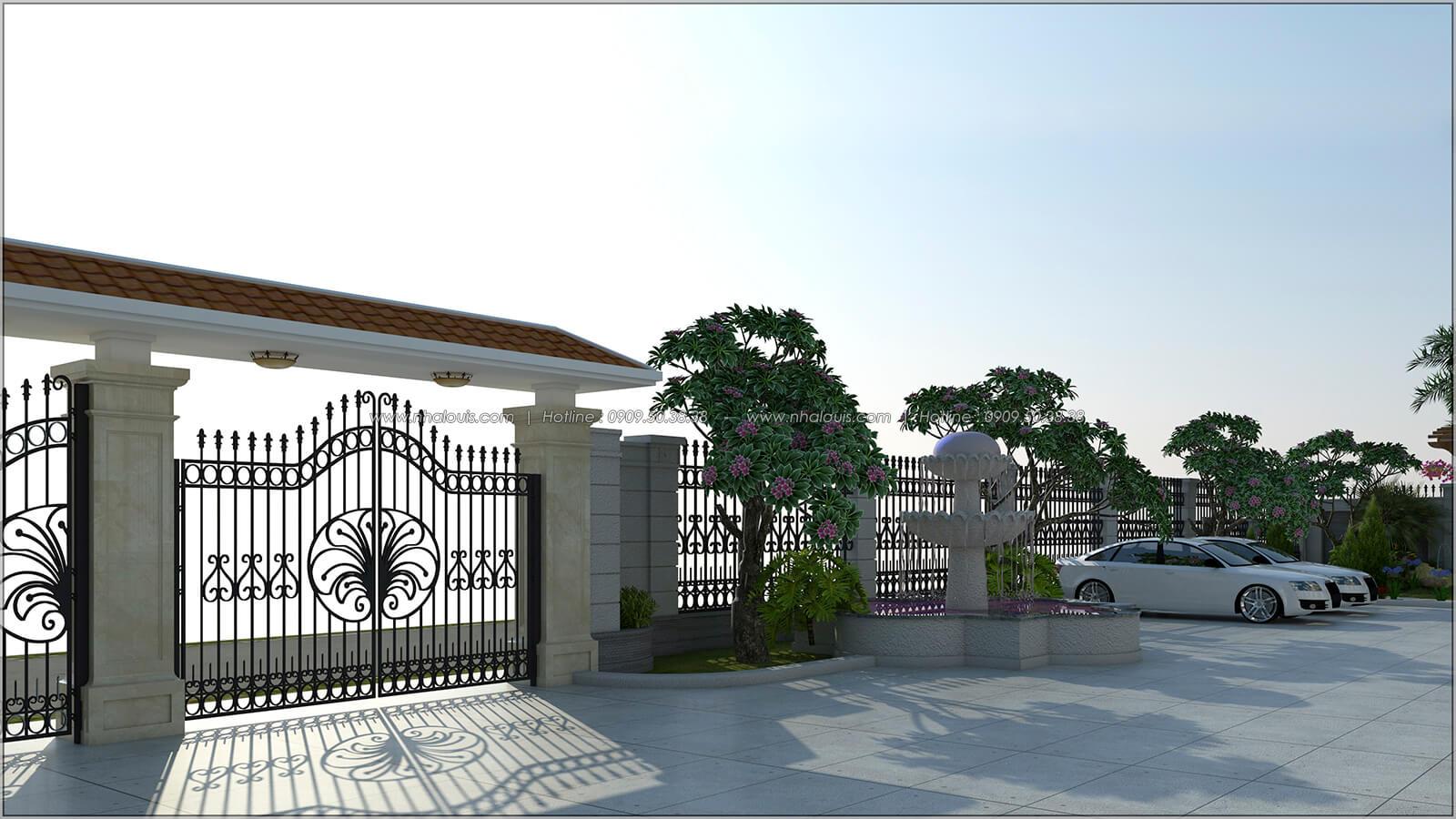 Sân trước Vẻ đẹp giản đơn của ngôi biệt thự 1 tầng 3 phòng ngủ tại xứ dừa Bến Tre - 3